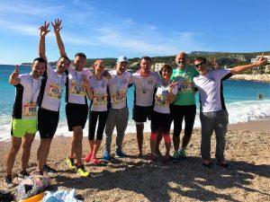 La team LM5P sur Marseille-Cassis 2017!